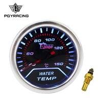 PQY Water Temp Gauge 2 52mm Digital Wideband Water Temperature Gauge Tachometer Auto Gauge Car Meter