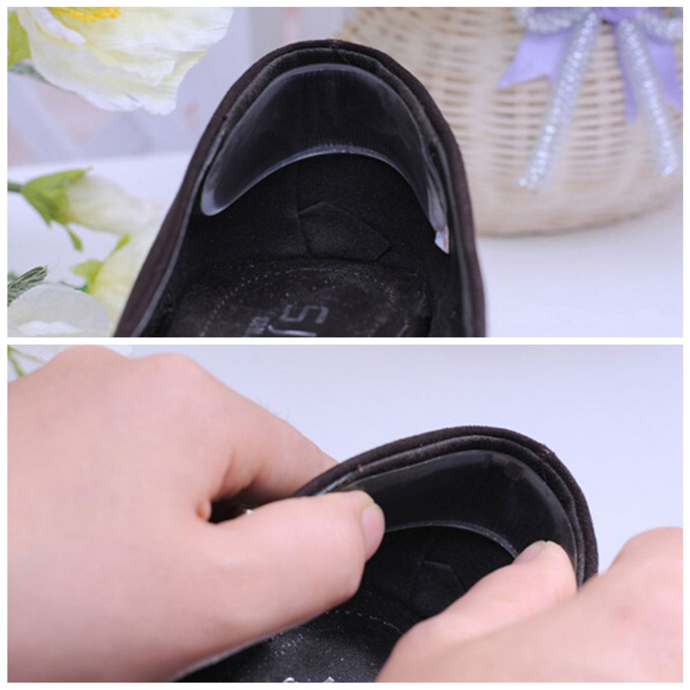 2 Pair Fashion Silicone Gel Heel Cushion protector Shoe Insert Pad Insole Foot Care Tool Anti-Slippery,Shock-Absorbant