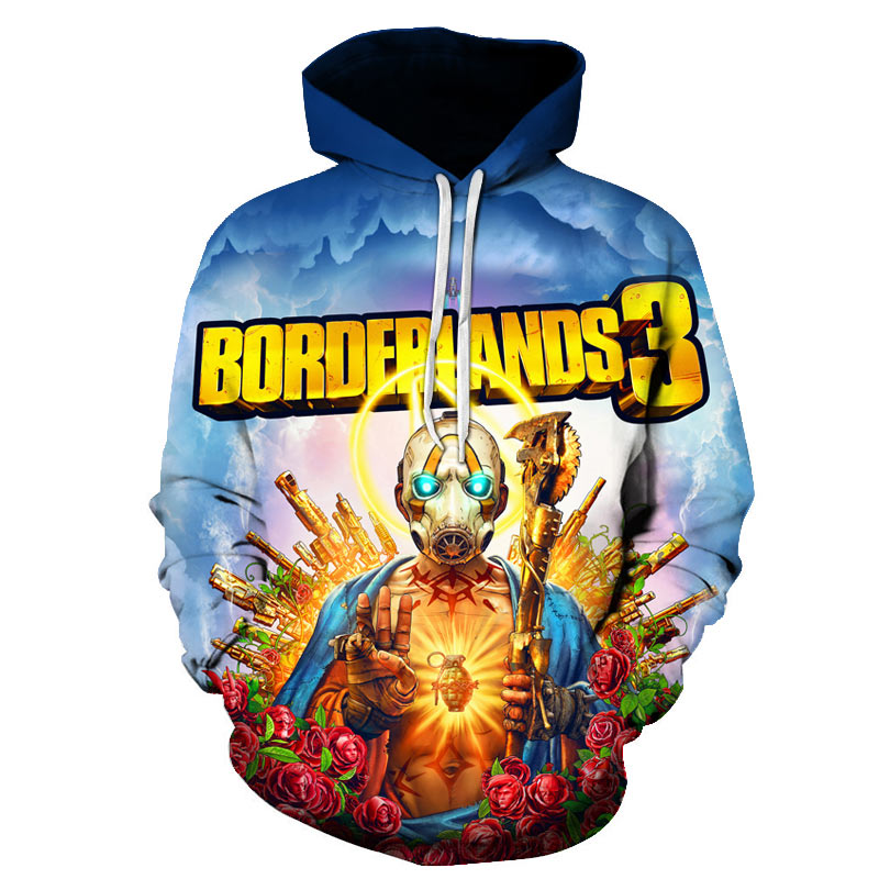 Borderlands 3 Hoodie Men/Women Sweatshirt Harajuku Streetwear  Games 3D Print Cosplay Hooded Pullover Mens Hoodies Sweatshirts