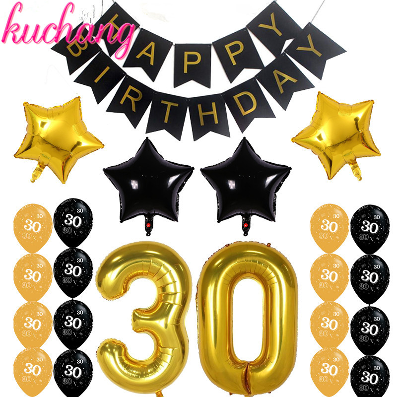 """Giant 21st Birthday Party 40/"""" Foil Balloon With Curling Ribbon Age 21 BLUE"""