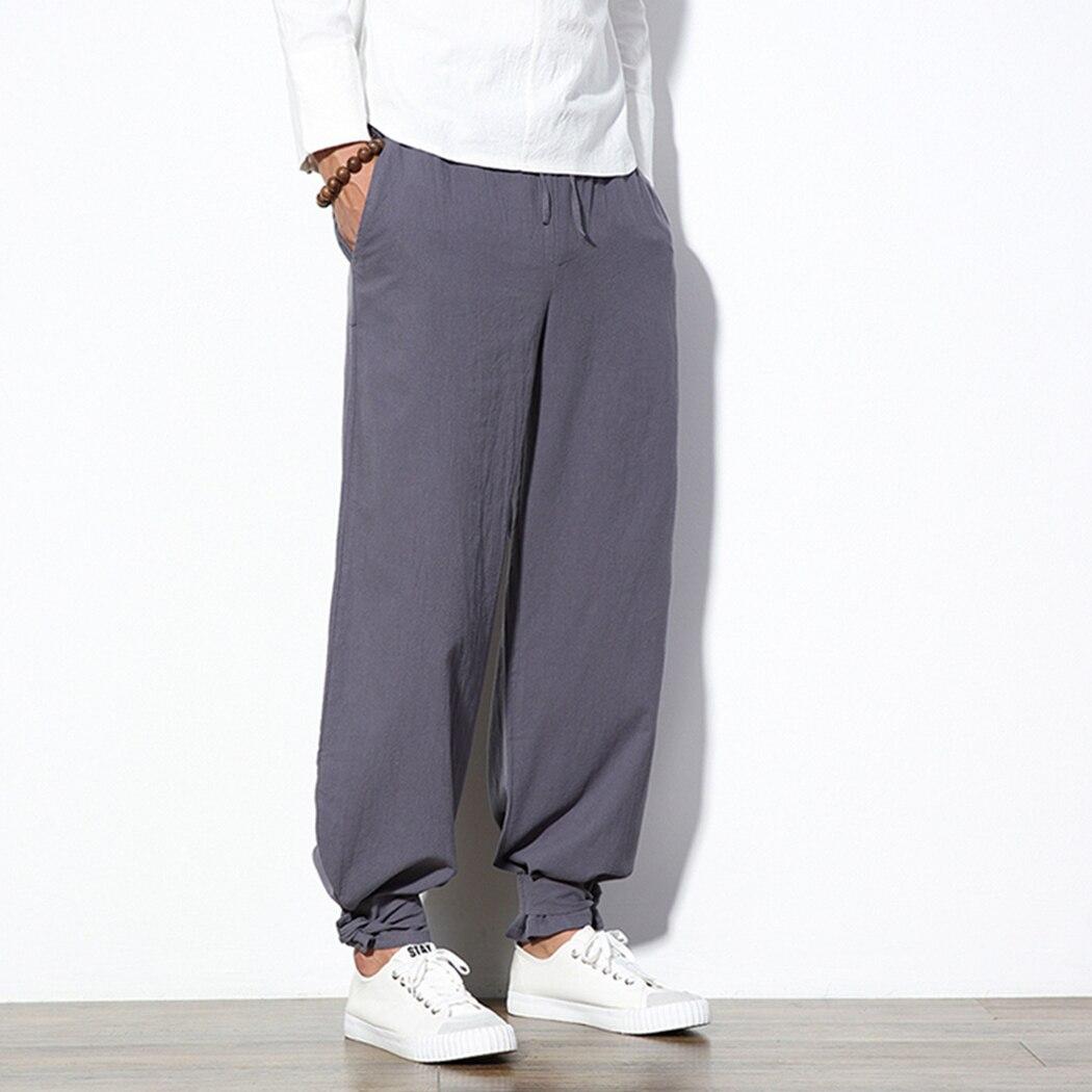 Harem Pants Trousers Male Loose Chinese Plus-Size Casual Fashion Harajuku Soft Traditional
