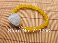 Natural Stone Bead Bracelet Yellow jade Gem stone Bracelets Natural Stone druzy jewelry