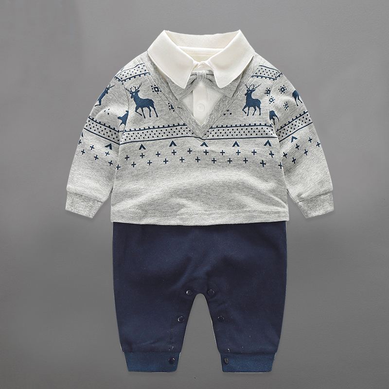 Baby Rompers Clothing 2016 New Fashion Autumn Newborn Baby Boy Long sleeve Baby Set Barboteuse Clothes Gentleman Infant Pajama