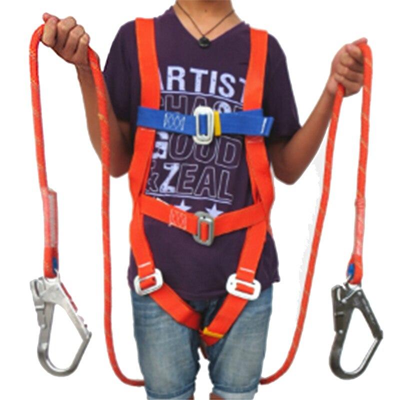 Ремень безопасности пять точек всего тела двойной крюк ремни безопасности для труда рабочих строитель защиты оборудования с буфером