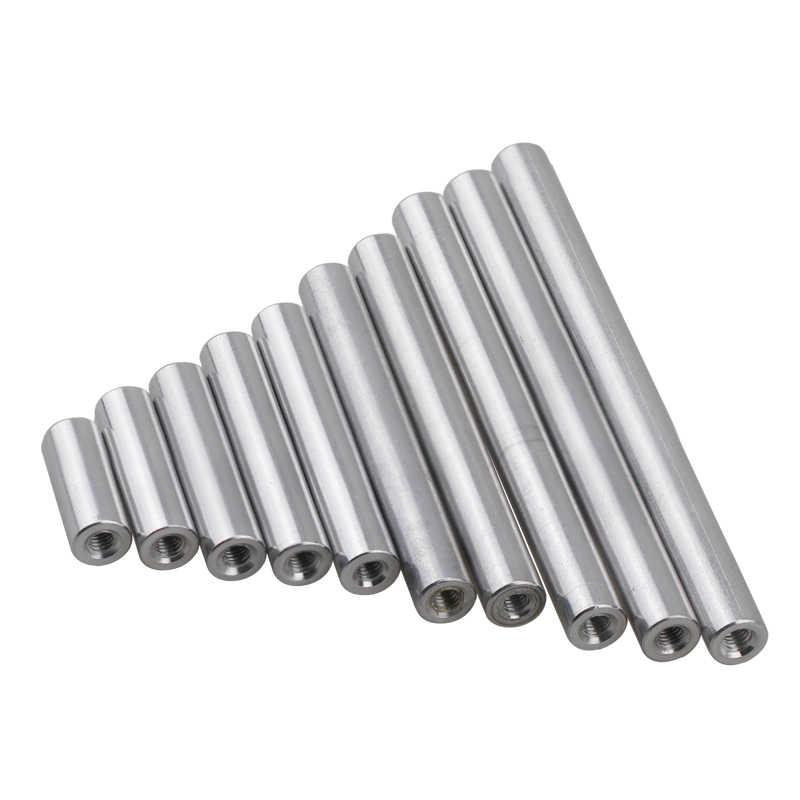 YJZG 10pcs M2 M2.5 M3 M4 Round Aluminum Column Rods Standoff Colourful Spacer Stud Fastener for Multirotor Color : BLACK, Length : 30mm, Size : M4 10PCS