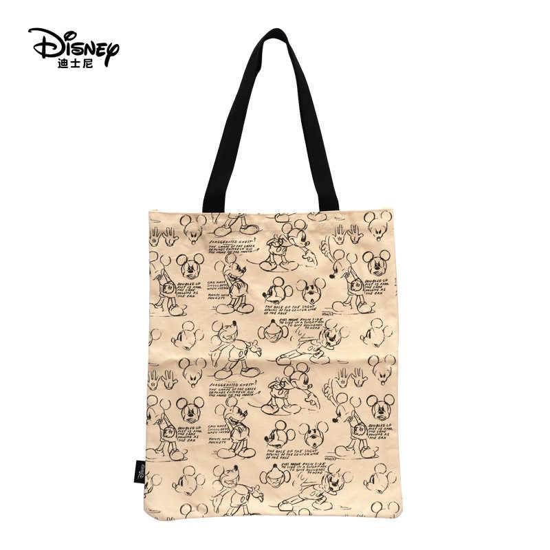 Bolso de compras para mamá de Disney, bolso de lona para mujer, bolso de tela ecológico, bolso de mano Disney, bolso de viaje escolar de Mickey Mouse plegable para mujer