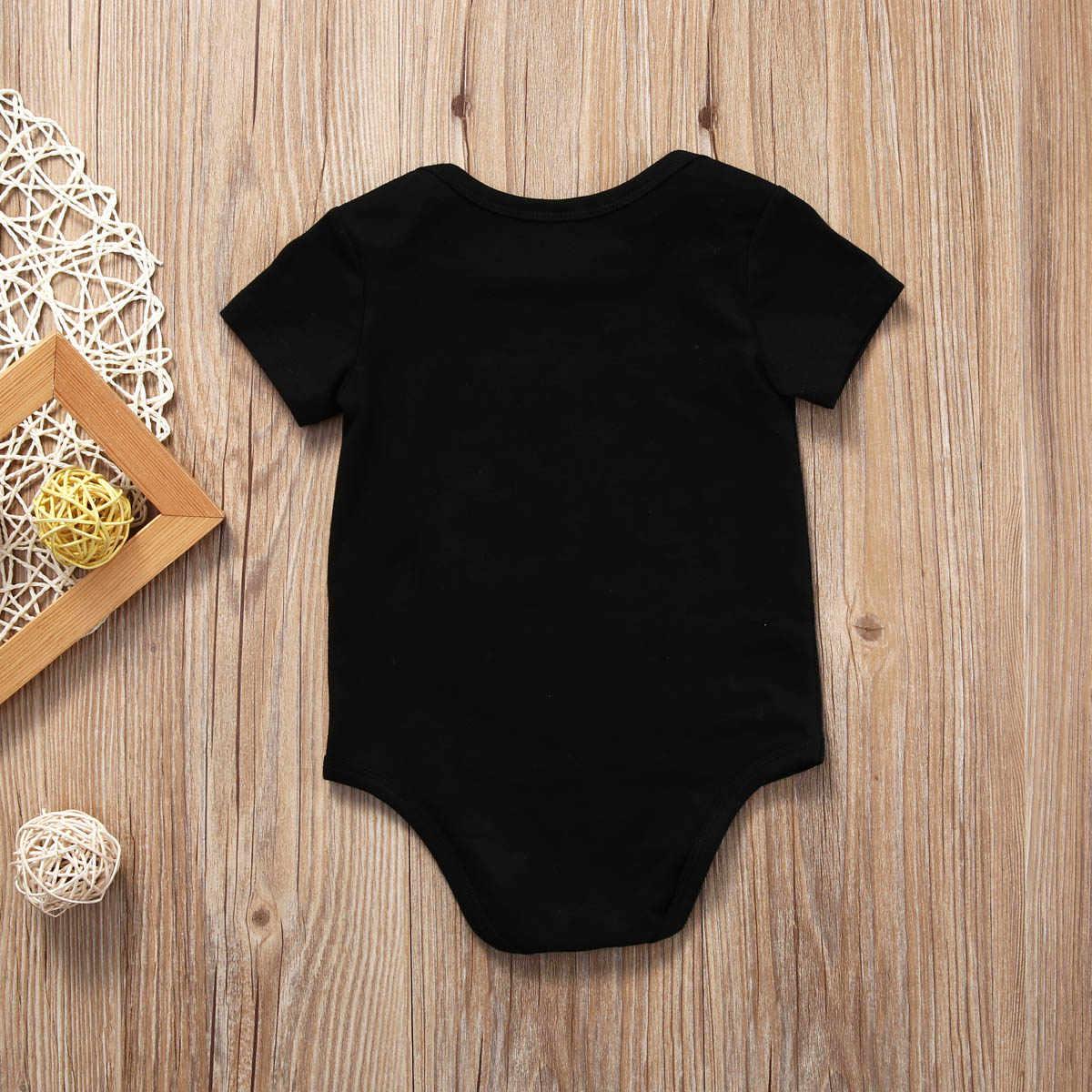 Комбинезон для новорожденных мальчиков и девочек, черный хлопковый комбинезон для малышей, детский пляжный костюм, Детский комбинезон для мальчиков и девочек 0-18 месяцев