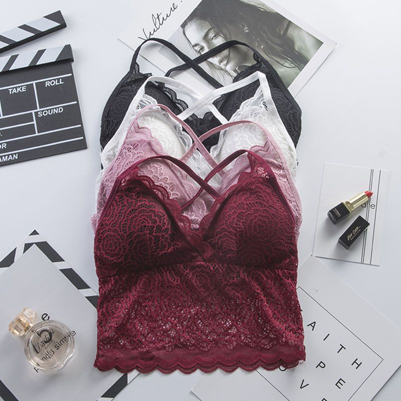 <font><b>2019</b></font> <font><b>Women</b></font> <font><b>Bra</b></font> Floral <font><b>Lace</b></font> Bralette Underwear Deep V Gathering Push Up <font><b>Bras</b></font> <font><b>Sexy</b></font> Lingerie Seamless Wireless Padded <font><b>Bra</b></font> бюстгалте image