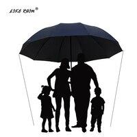 Как дождь 152 см большой зонт для гольфа дождь женский ветрозащитный большой складной зонт высокого качества мужские деловые двойные Зонты ...
