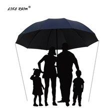 Большой зонт для гольфа LIKE RAIN 152 см, женский ветрозащитный большой складной зонт от дождя, высококачественные мужские деловые двойные Зонты UBY28