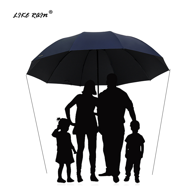 LIKE RAIN 152CM Large <font><b>Golf</b></font> <font><b>Umbrella</b></font> Rain Women <font><b>Windproof</b></font> Large Folding <font><b>Umbrella</b></font> High Quality Men Business Double <font><b>Umbrellas</b></font> UBY28 image