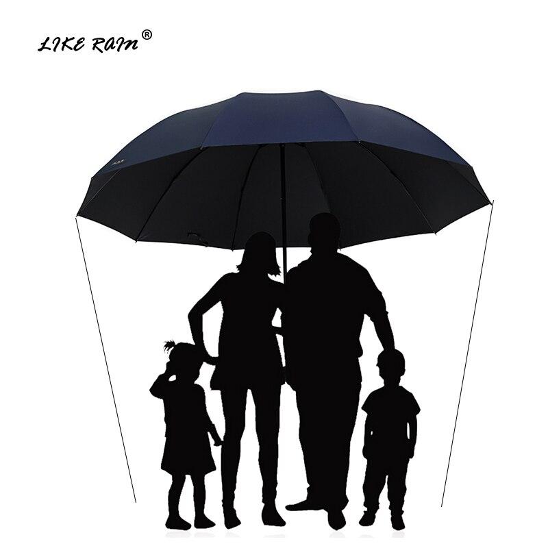 WIE REGEN 152 cm Große Golf Regenschirm Regen Frauen Winddicht Große Falten Regenschirm Hohe Qualität Männer Business Doppel Regenschirme UBY28