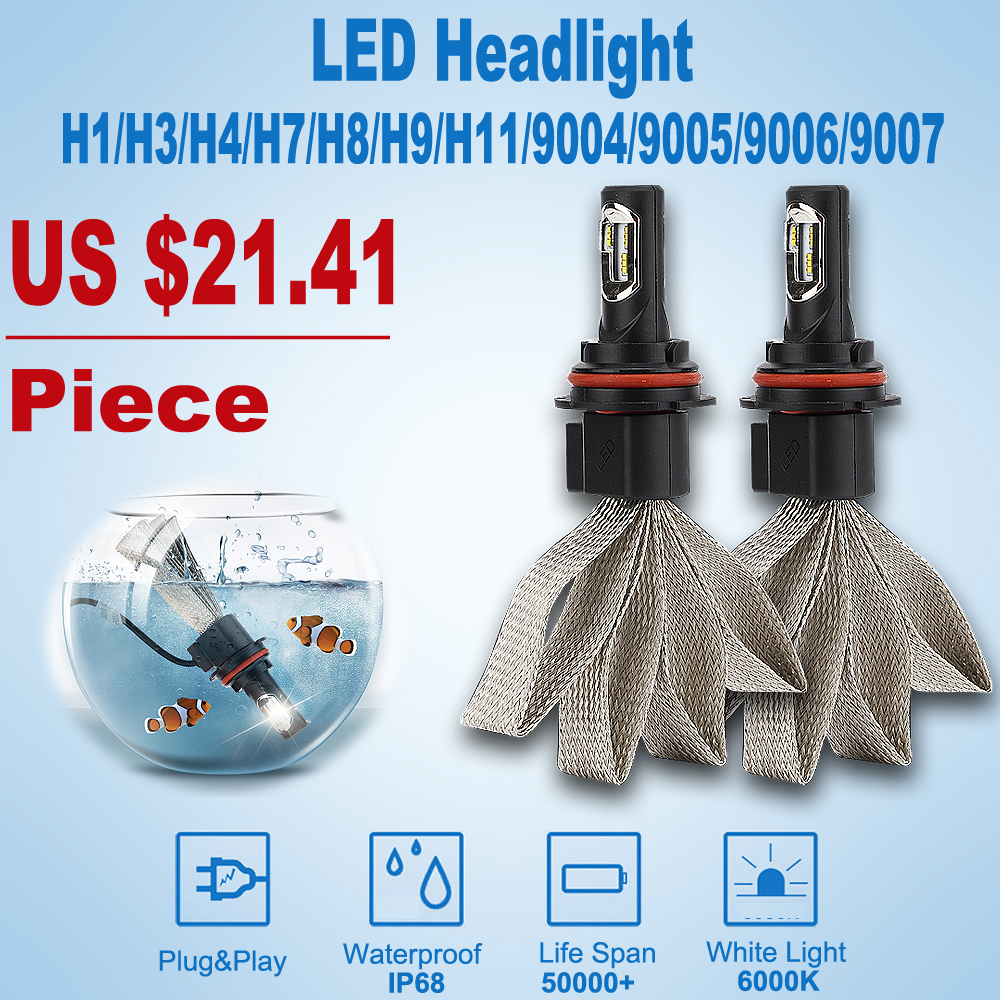 Car Headlights Automobiles H7 H4 led  Headlamp Led Light Bulbs H1 H3 9005 9006 H11 H13 9004 9007  6000K Fog Lamps P7 car styling car headlight led h4 h7 h11 72w 8000lm 6000k led h1 h3 h13 9005 9006 9004 880 9007 auto cob bulb automobiles headlamp car light