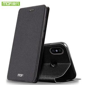 Image 2 - Para Xiaomi Redmi Nota 5 Pro caso Para Xiaomi Redmi Nota 5 Pro case capa bolsa em couro flip Mofi Para Capa de silicone caso Xiaomi Nota Redmi 5