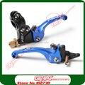 Asv embrague y embrague palanca plegable set para Kayo Apollo Bosuer Xmotos Dirt bike Pit bike repuestos envío gratis azul