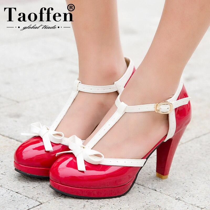 80da7fa70 Comprar Tamanho 32 48 TAOFFEN Mulheres Sandálias de Salto Quadrado Dedo Do  Pé Redondo Sapatos de Salto Alto Sandálias de Plataforma das Mulheres arco  de ...