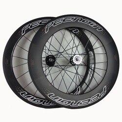 Rower z ostrym kołem 700C 25mm szerokość z przodu 60mm z tyłu 88mm mieszane zestawy kół Clincher od najlepsze chińskie wyprzedaże do amerykańskiego sklepu rowerowego