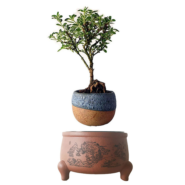 2017 japan magnetic levitation floating plants ceramic for Gardening gifts for men