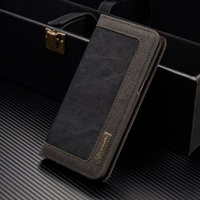 CASEME for Samsung Galaxy S8 Plus Cover Canvas Leather Wallet Phone Flip Case for Samsung Galaxy S8 Plus G955 Case Bag Shell