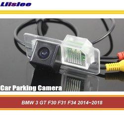 Kamera cofania samochodu Liislee dla BMW 3 GT F30 F31 F34 2014 ~ 2018/HD Parking kamera cofania/CCD wodoodporna kamera w Kamery pojazdowe od Samochody i motocykle na