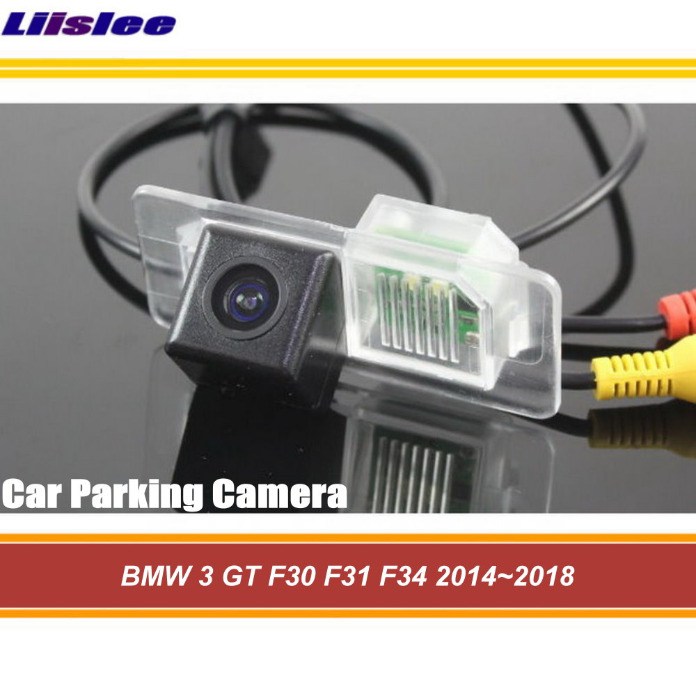 Liislee Car Rear View Reverse Camera For <font><b>BMW</b></font> 3 <font><b>GT</b></font> F30 F31 <font><b>F34</b></font> 2014~2018 / HD Parking Back Up Camera / CCD Waterproof CAM image
