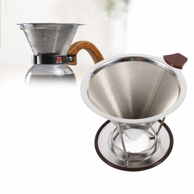 Kaffeefilter Edelstahl portable edelstahl kaffee filter tropf wiederverwendbare