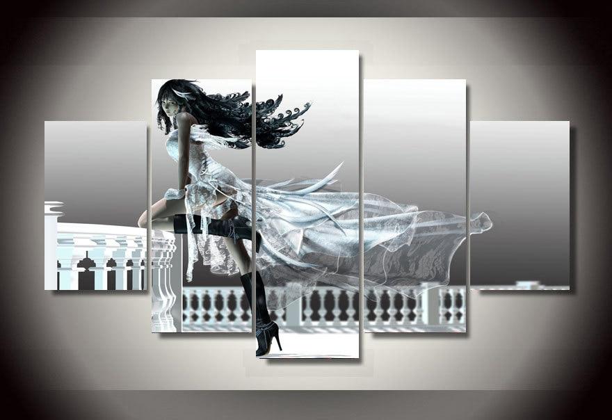 ᗖ2017 arte de la pared enmarcado impreso 3D anime Girl grupo ...
