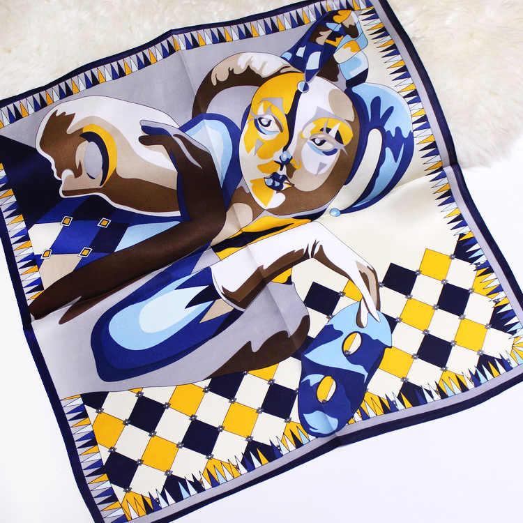 DANKEYISI Reiner Seide Schal Frauen Pferd Muster Stirnband Druck Hals Schal Neue Mode Kleinen Quadratischen Schals Krawatte Haar Tasche Band