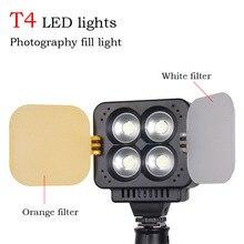 Zifon T4 LEVOU Casamento luz de vídeo fotografia digital escurecimento alto-brilho high-power botão do flash