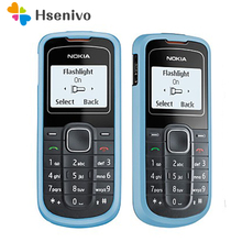 лучшая цена 1202 Refurbished Original Unlocked Nokia 1202 mobile phone one year warranty refurbished