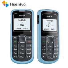 1202 remodelado original desbloqueado nokia 1202 telefone móvel um ano de garantia remodelado