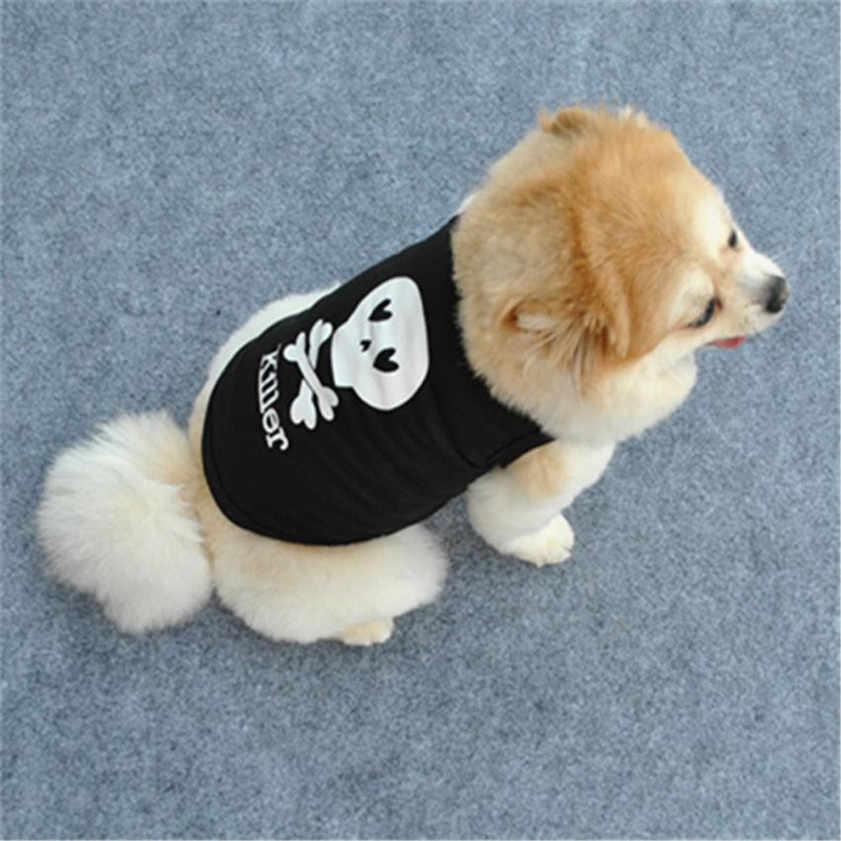 Dropshipping ขายคุณภาพสูงแฟชั่น Summer Pet Puppy Dog Cat เสื้อผ้าเด็กผู้หญิงวันเกิดเสื้อกั๊ก T เสื้อสุนัขสวย WH