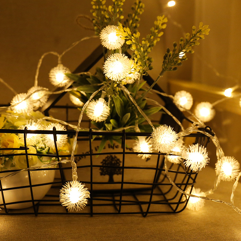 LBTFA 1M 3M Garland Xmas LED Dandelion String Light Fairy Lights 10 20 Led Lights Decoration For Christmas Tree New Year Decor