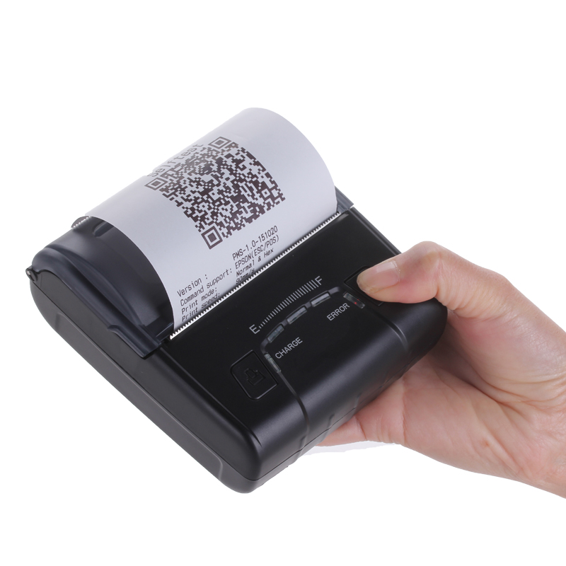 3 Inch Portable Bluetooth Thermal Receipt Printers Mall Bill Impressora Termica 80mm QR Code Printing IOS