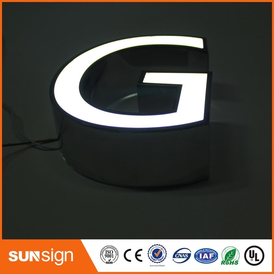 Wholesale Advertising High Brightness Face-lit Acrylic LED Letter