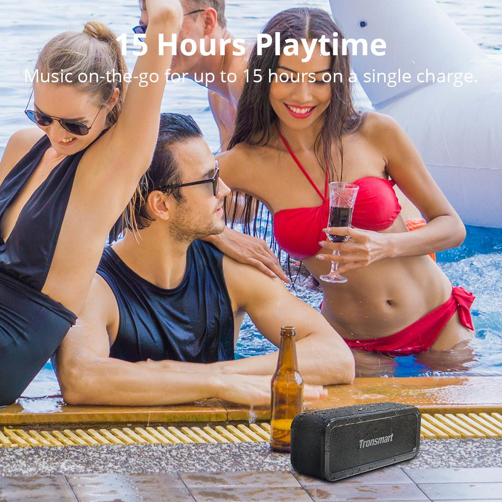 tronsmart element force speaker bluetooth wireless speaker with 15hrs playtime