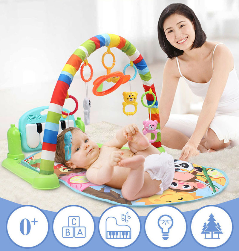 Baby Play Mat Kids Rug Educational Puzzle Carpet With Piano Keyboard And Cute Animal Playmat Baby Gym Crawling Activity Mat Toys | Happy Baby Mama