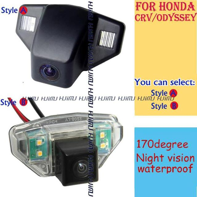 wired/wireless Car Rear camera reverse parking assistance for HONDA CRV FIT hatchback (2C) ODYSSEY 2009 2011 2013