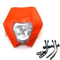 Motorcycle Bike Head Light Motocross Universal Headlight BA20D Bulb For KTM SMR Headlamp