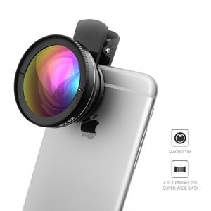 Image 2 - Nowy! VTIN uniwersalny profesjonalny zestaw obiektywów aparatu telefonicznego HD 0.45x super szeroki kąt obiektywu + 10x super makro obiektyw + 37mm gwint klip