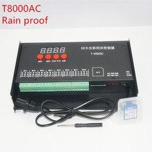 цена на LED controller T8000 SD Card Controller for WS2801 WS2811 LPD8806 8192 Pixels DC5V waterproof Rainproof controller AC110-240V