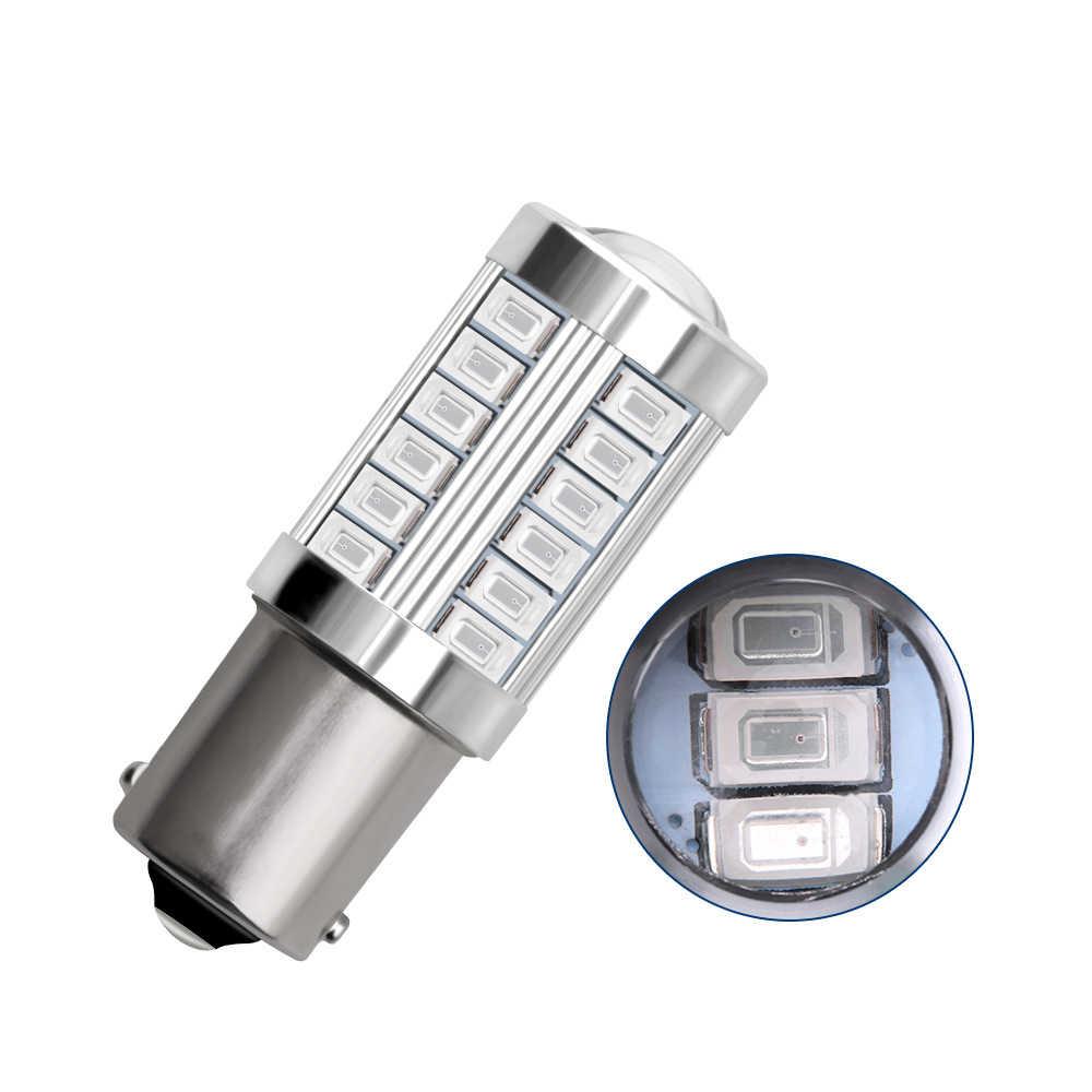 ASLENT 1156 BA15S P21W 1157 P21/5 W BAY15D süper parlak 33 SMD 5630 LED otomatik fren lambası araba gündüz çalışan işık stop lambaları 12V
