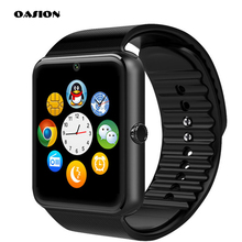 GT08 Bluetooth Smart-armbanduhr-telefon-mate tragbare geräte Smartwatches Bluetooth-konnektivität Sim-karte Für Huawei ios Android