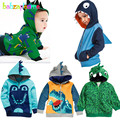 0-5Years/Spring Autumn Baby Boys Jackets And Coats Cartoon Cute Hooded Long Sleeve Sport Kids Outerwear Children Clothing BC1066