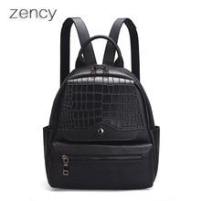 Zency малый кожаный рюкзак мягкая натуральная кожа женские рюкзаки женские сумки девушки Топ Слои коровьей школьная сумка Mochila