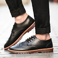 2016 Новая Мода Сапоги Летом Прохладно и Зимой Теплый Мужской Обуви Кожа обувь резные мужские Квартиры Обувь Низкие Повседневная Для Мужчин Оксфорды обувь