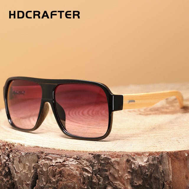 Bamboo sunglasses with case