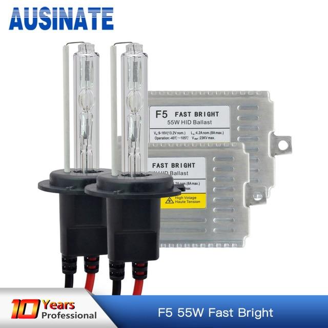 US $33 84 28% OFF|H7 xenon fast bright F5 ballast HID light kit 12V 55W H1  H3 H4 H8 H9 H11 9005 HB3 9006 HB4 881 D2S 4300k to 8000k HID xenon kit-in