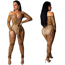 2019 new arrival summer sexy fashion style women plus size long jumpsuit