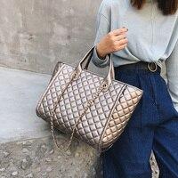 2019 Large Shoulder Bag Women Travel Bags Leather Pu Quilted Bag Female Luxury Handbags Women Bags Designer Sac A Main Femme